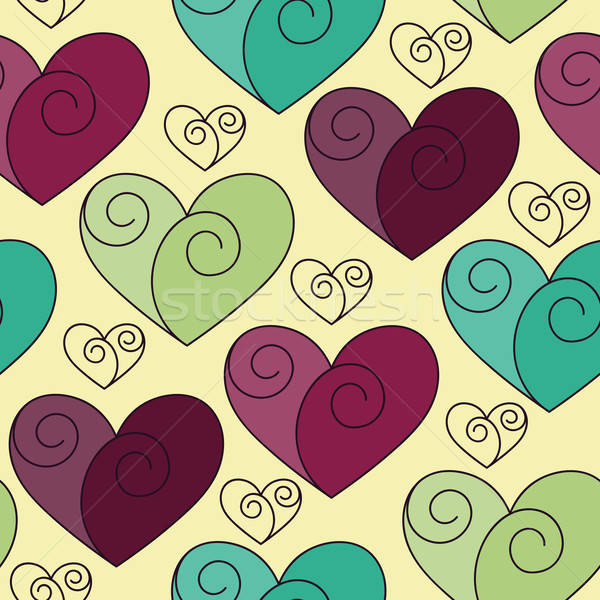 Vector seamless Pattern with Hearts Stock photo © alexmakarova