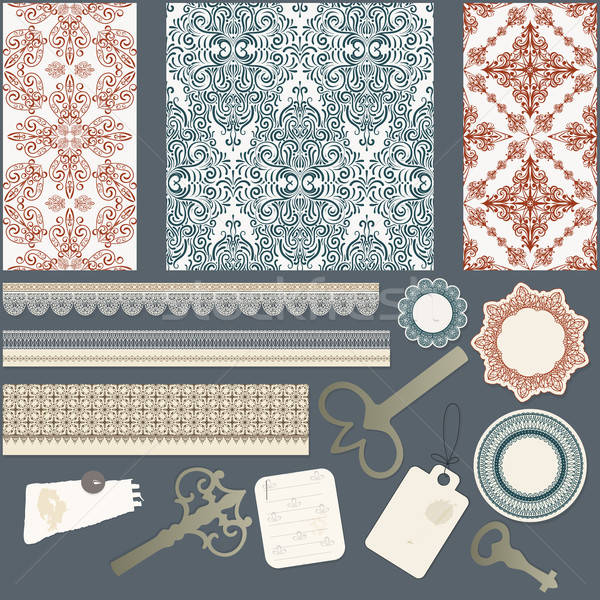 vector scrapbook design elements Stock photo © alexmakarova