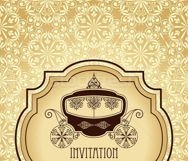 Vector Wedding Invitation Stock photo © alexmakarova