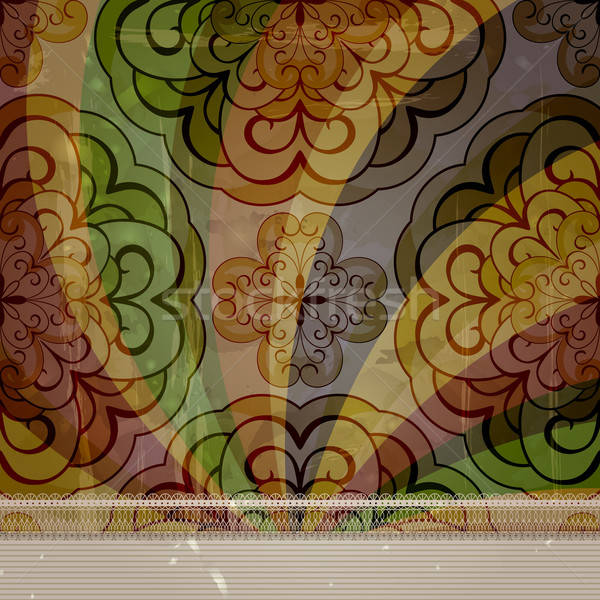 vector spring retro seamless floral pattern on abstract backgrou Stock photo © alexmakarova