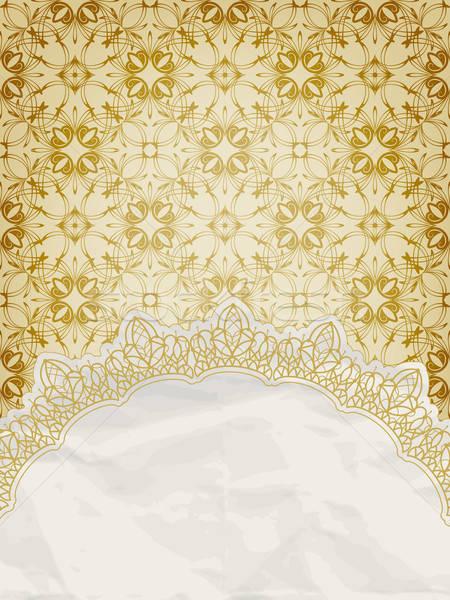 vector lacy napkin on floral background Stock photo © alexmakarova