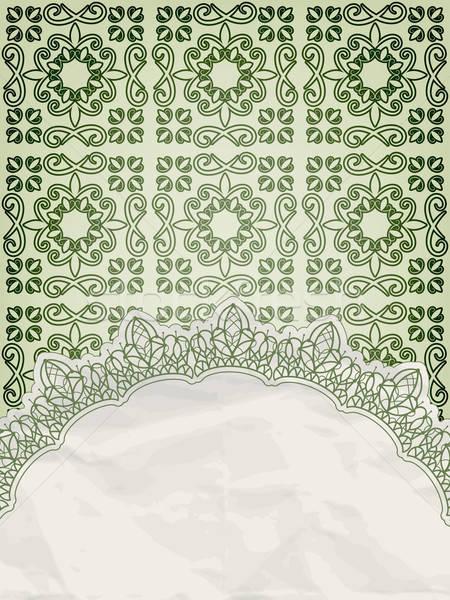 vector lecy napkin on floral background Stock photo © alexmakarova
