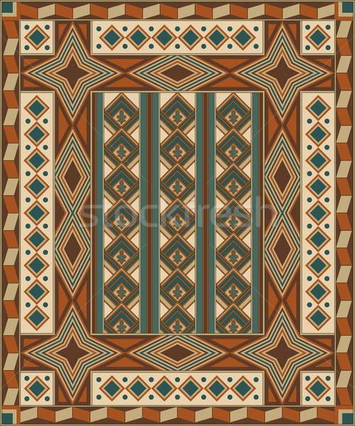 Vector naadloos geometrisch patroon blad schoonheid Stockfoto © alexmakarova