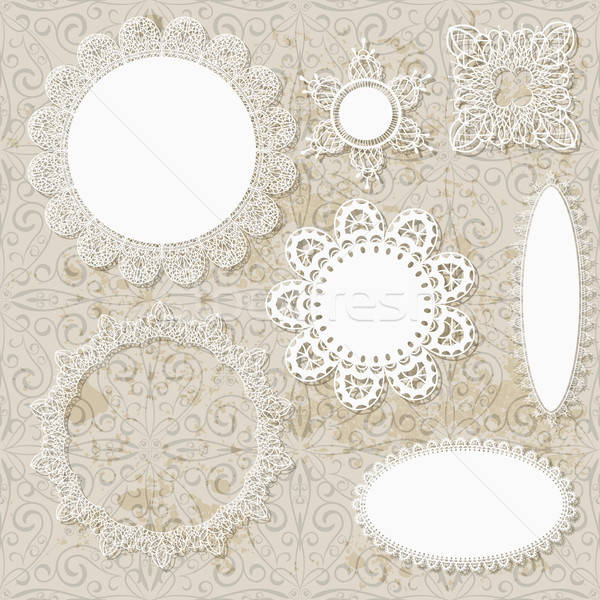 ベクトル スクラップブック ナプキン デザイン パターン シームレス ストックフォト © alexmakarova