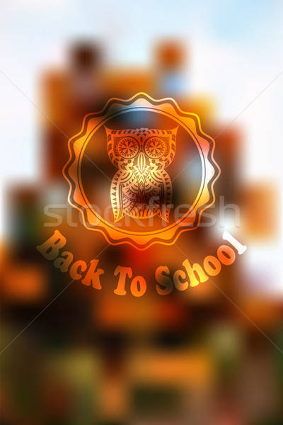 ősz vissza az iskolába bagoly szerkeszthető eps 10 Stock fotó © alexmakarova
