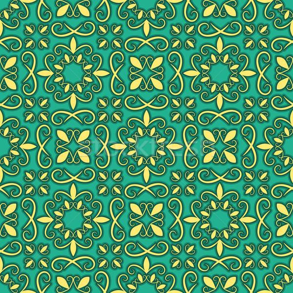 ベクトル シームレス 明るい パターン オリエンタル スタイル ストックフォト © alexmakarova