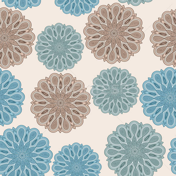 vector seamless floral  pattern with bizarre flowers Stock photo © alexmakarova