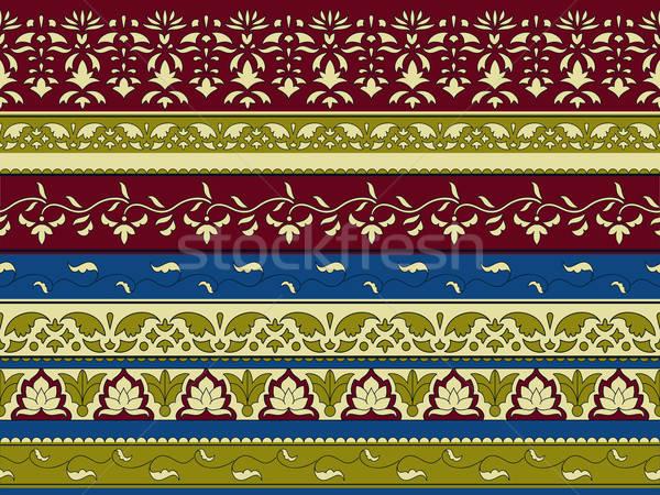 ベクトル シームレス フローラル パターン インド スタイル ストックフォト © alexmakarova
