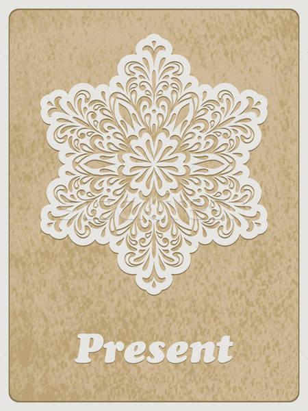 Vektor kártya retro virág vektor fehér papír Stock fotó © alexmakarova