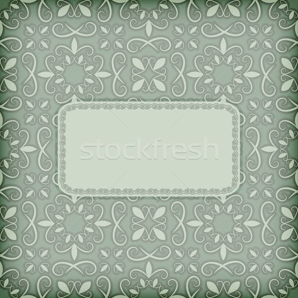 vector floral pattern with frame for your text Stock photo © alexmakarova