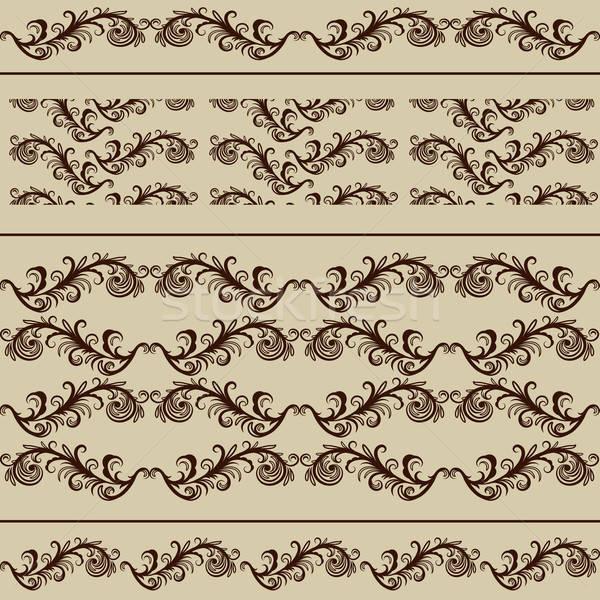 Stock fotó: Klasszikus · keretek · végtelenített · minták · szerkeszthető · eps · akta