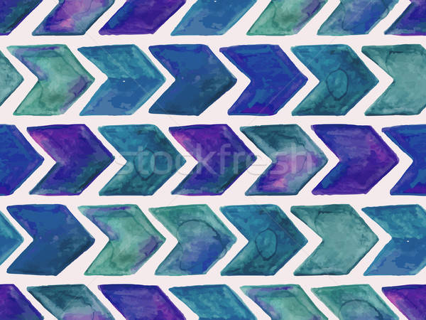 Vector Seamless Watercolor Geometric  Pattern with Arrows Stock photo © alexmakarova