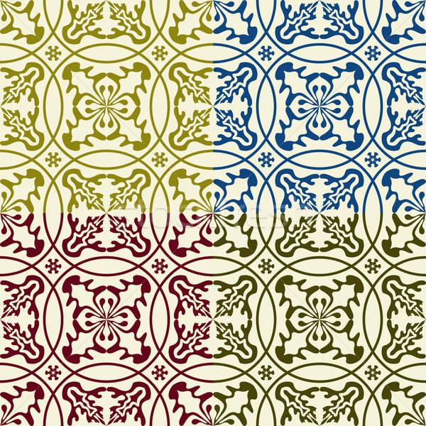 ベクトル シームレス 東部 パターン 抽象的な ストックフォト © alexmakarova