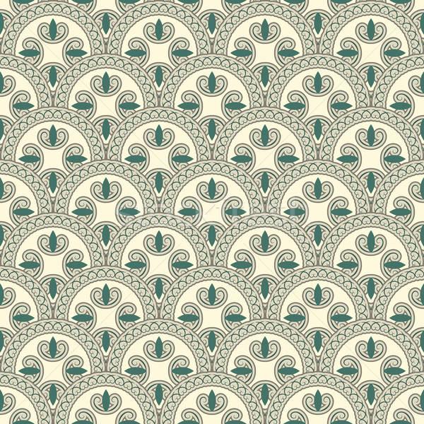 vector seamless pattern, oriental style Stock photo © alexmakarova