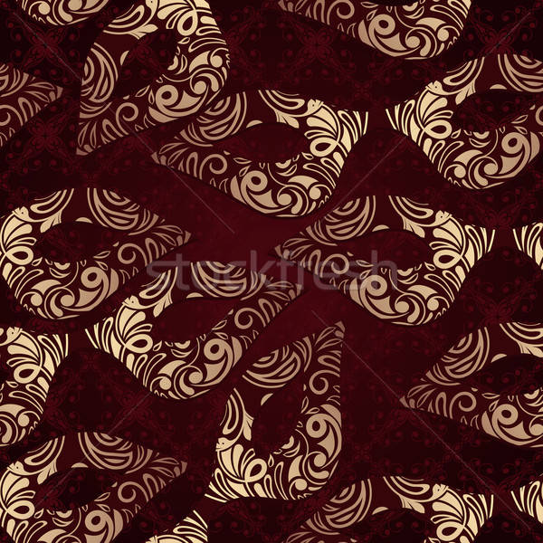 Vector seamless floral pattern with carnaval masks Stock photo © alexmakarova