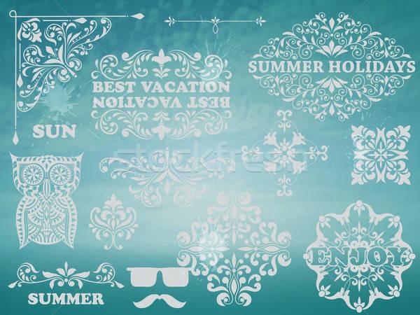 Vector Summer Design Elements Stock photo © alexmakarova