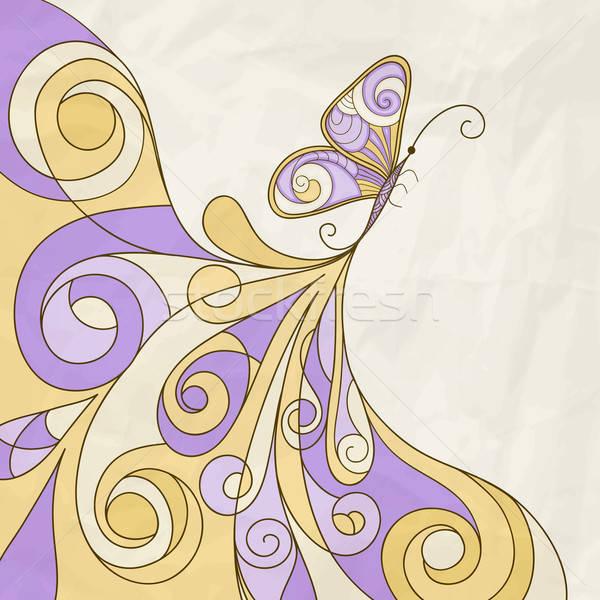 Vector mariposa resumen patrón textura del papel eps Foto stock © alexmakarova