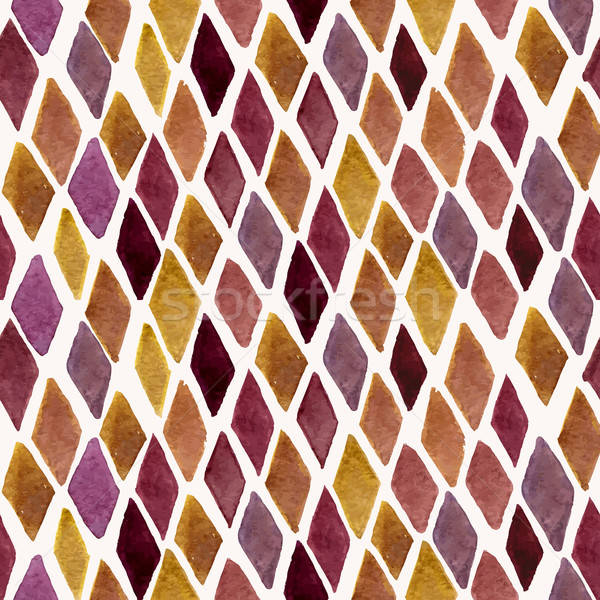 Stock photo: Vector Seamless Hand Drawn Checked Pattern