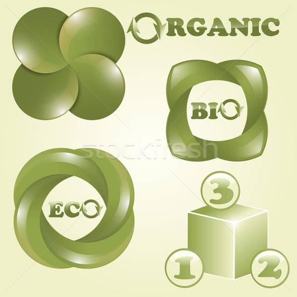 vector eco, bio, and organic labels Stock photo © alexmakarova