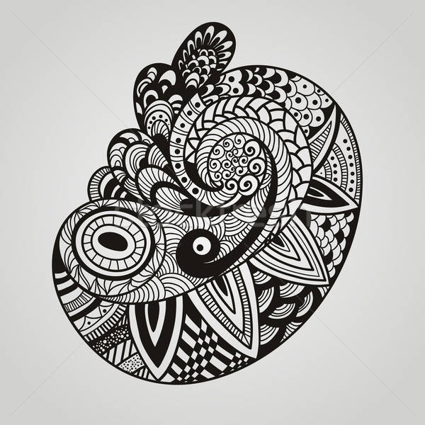 Vector paisley design element Stock photo © alexmakarova