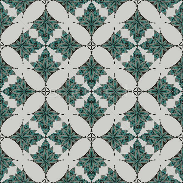 Vettore senza soluzione di continuità floreale pattern foglia Foto d'archivio © alexmakarova