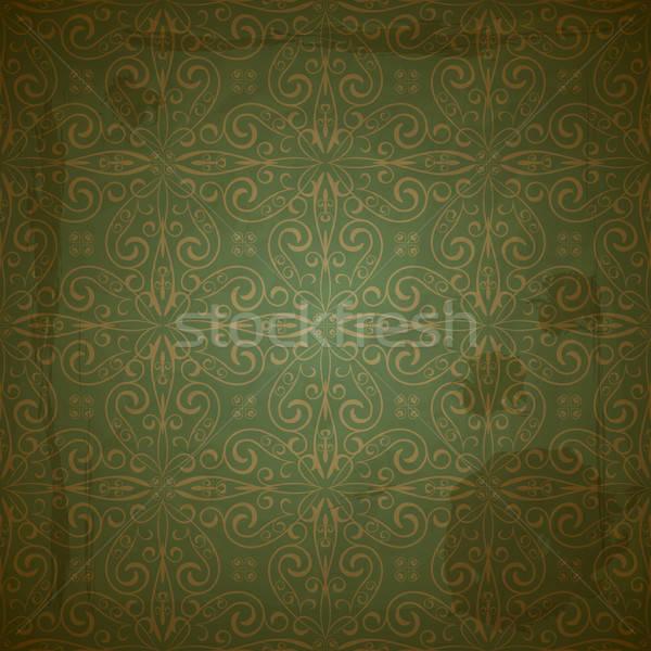 Vettore senza soluzione di continuità pattern verde Foto d'archivio © alexmakarova