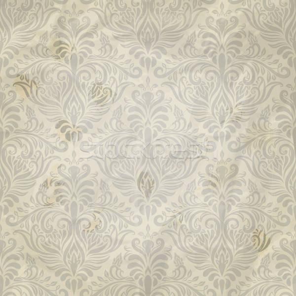 Vector naadloos vintage patroon Papierstructuur Stockfoto © alexmakarova