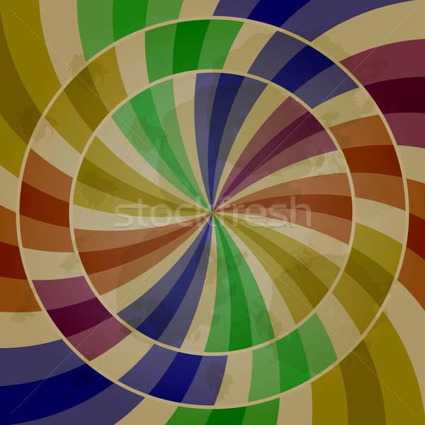 Vector abstract retro mode groene Stockfoto © alexmakarova