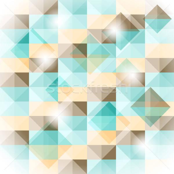 вектора бесшовный геометрическим рисунком 3D иллюзия простой Сток-фото © alexmakarova