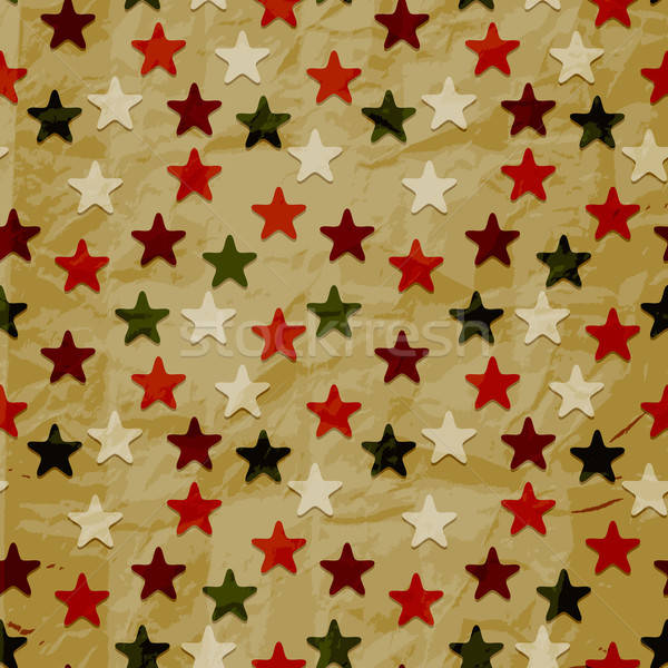 Vector naadloos retro patroon Papierstructuur christmas eps Stockfoto © alexmakarova