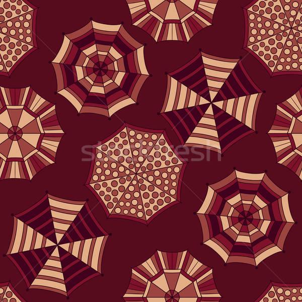 Vector Seamless  Pattern with Umbrellas Stock photo © alexmakarova