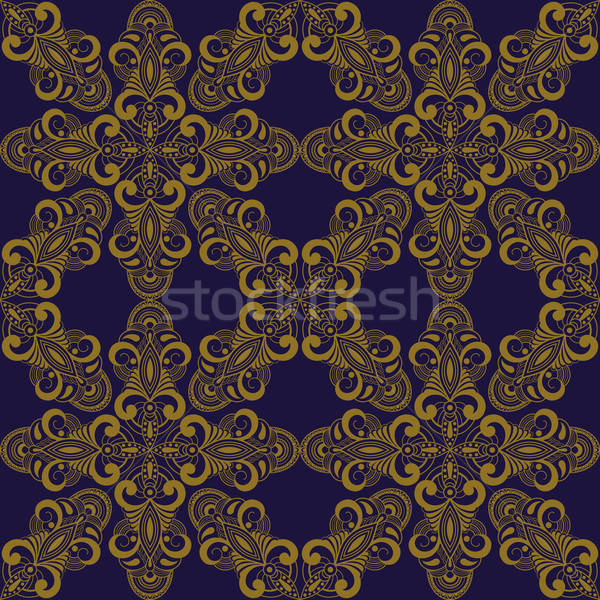 Vetor oriental estilo abstrato folha Foto stock © alexmakarova