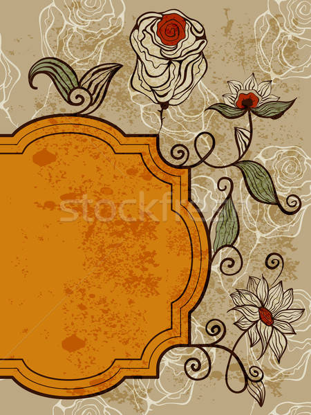vector greeting card with funky bizarre flowers Stock photo © alexmakarova