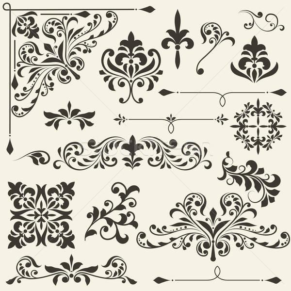 Vecteur vintage floral design gradient Photo stock © alexmakarova