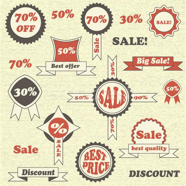 Vector verkoop collectie business Stockfoto © alexmakarova