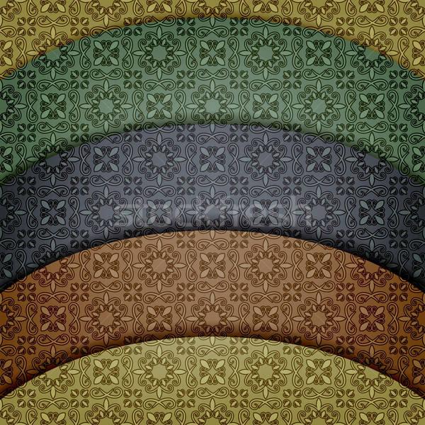 vector retro pattern Stock photo © alexmakarova