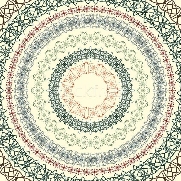 Ingesteld vector cirkel vintage patronen naadloos Stockfoto © alexmakarova