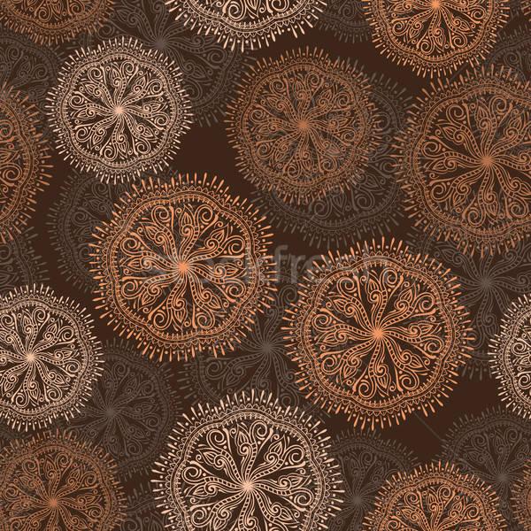 Vektor végtelen minta virágok papír terv háttér Stock fotó © alexmakarova