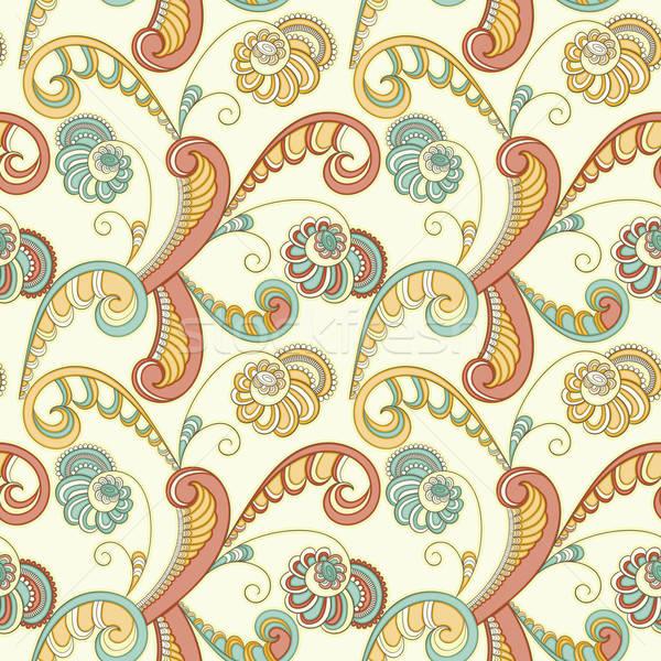 Vettore senza soluzione di continuità floreale primavera pattern abstract Foto d'archivio © alexmakarova