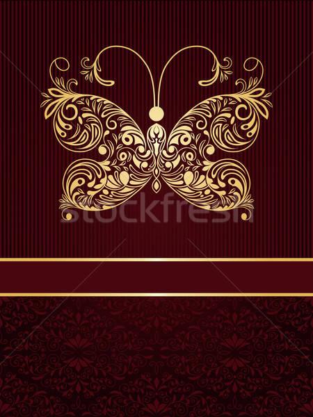 ベクトル グリーティングカード 蝶 フローラル ストックフォト © alexmakarova