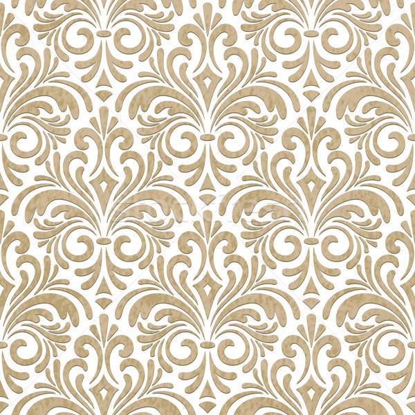 Vector seamless floral paper cut pattern Stock photo © alexmakarova