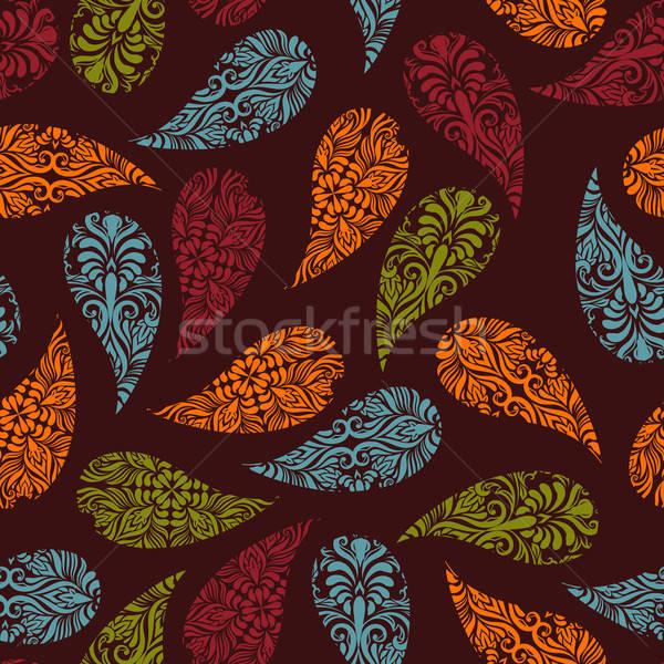 vector seamless Paisley pattern Stock photo © alexmakarova