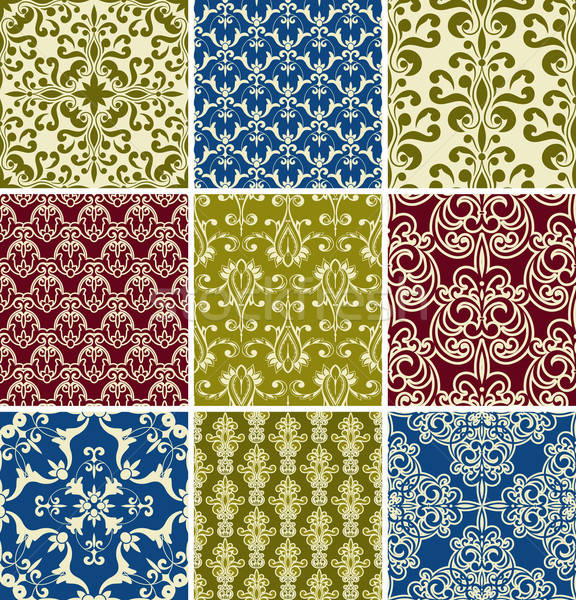 Stock photo: Vector Seamless  Floral Patterns