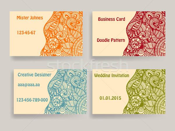 Vector business card template Stock photo © alexmakarova