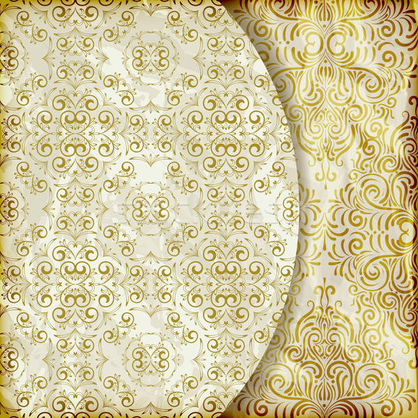 vector retro background with vintage floral patterns Stock photo © alexmakarova