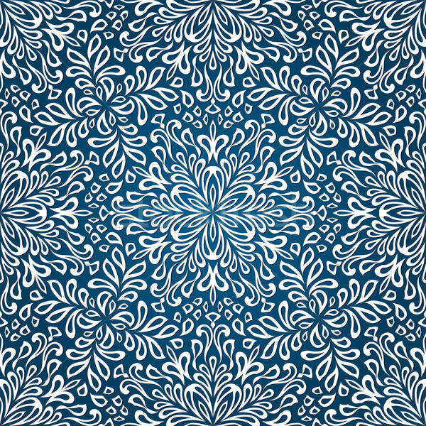 Vector Seamless Christmas Pattern with Snowflakes Stock photo © alexmakarova