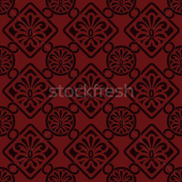 Foto stock: Vector · sin · costura · floral · patrón · indio · estilo