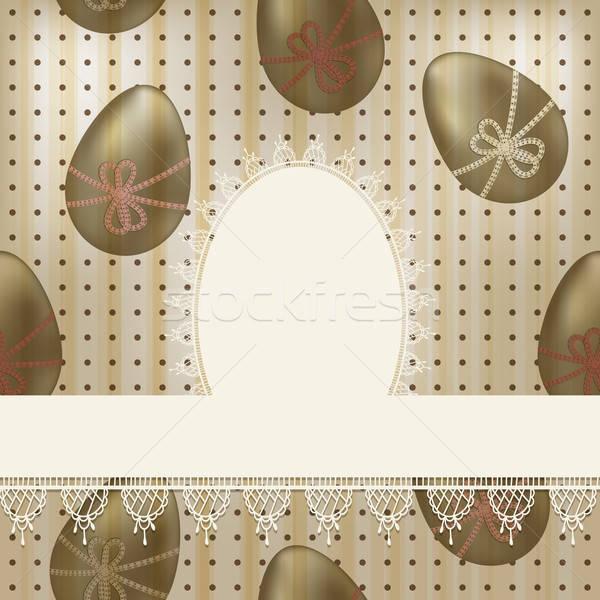Сток-фото: вектора · Vintage · Пасху · белый · салфетку