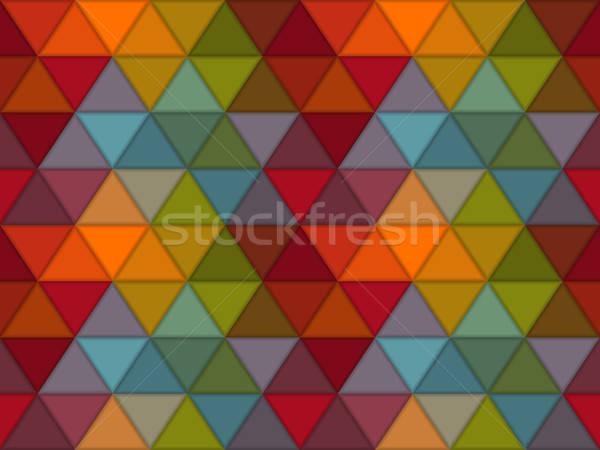 Stock photo: Vector Seamless Hipster Geometric Pattern