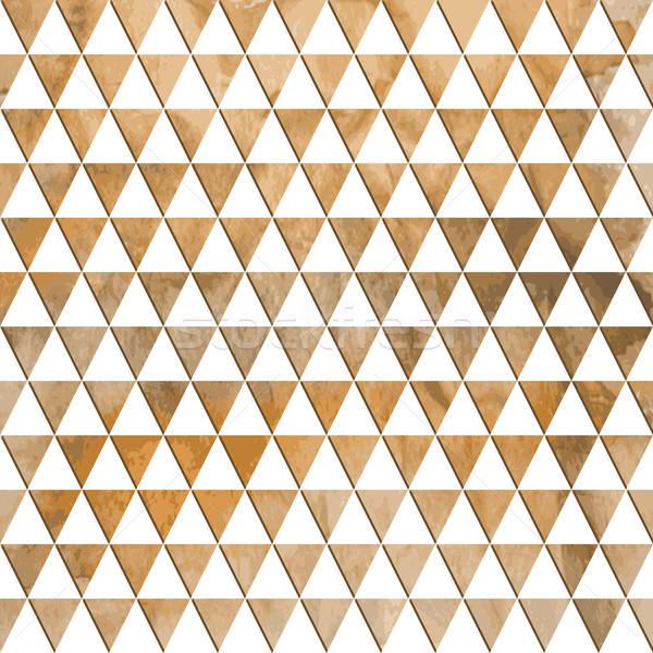 Vector Seamless Geometric Pattern on watercolor winter backgroun Stock photo © alexmakarova